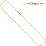 Figarokette 333 Gelbgold 2, 3 mm 45 cm Gold Kette Halskette Goldkette Karabiner