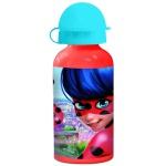MIRACOLOUS Kinder Trinkflasche aus Aluminium rot 400 ml