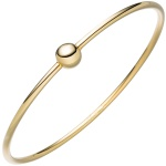 Armreif Armband mit Kugel 925 Sterling Silber gold vergoldet