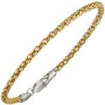 Armband 925 Sterling Silber bicolor gold vergoldet 19 cm