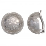Ohrclips Halbkugel 925 Sterling Silber rhodiniert mattiert Ohrringe Clips
