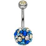 Bauchnabel Piercing Titan und 925 Silber mit SWAROVSKI® ELEMENTS