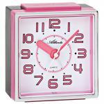 Atlanta 1938/17 Wecker Quarz analog rosa pink leise ohne Ticken mit Licht Snooze