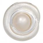 Anhänger 925 Sterling Silber eismatt 1 Süßwasser Perle Perlenanhänger