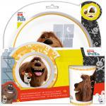 The Secret Life Of Pets Kinder Frühstücks-Set 3-teilig Melamin Kindergeschirr