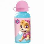 PAW PATROL Kinder Trinkflasche aus Aluminium türkis rosa 400 ml
