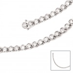 Armband 925 Sterling Silber 42 Zirkonia 19 cm Silberarmband Kastenschloss
