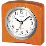 Rhythm 70205/30 Tischuhr Stiluhr Quarz analog Holz mit Weckfunktion Wecker