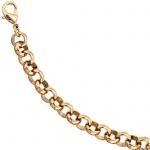 Erbsarmband Tombak gold farbene PVD-Beschichtung 20 cm Armband Karabiner