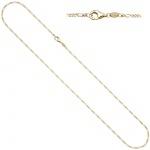 Figarokette 333 Gold Gelbgold diamantiert 1, 7 mm 45 cm Kette Halskette Goldkette