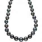 Collier Perlenkette Tahiti Perlen Verlauf 45 cm Halskette Kette