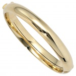 Armreif Armband oval 585 Gold Gelbgold Goldarmreif Kastenschloss