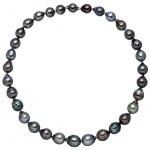 Kette mit Tahiti Perlen multicolor und 925 Sterling Silber 44 cm Perlenkette