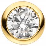 Anhänger rund 925 Sterling Silber gold vergoldet 1 Zirkonia Silberanhänger