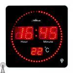 Atlanta 4462 Wanduhr Tischuhr Funk digital schwarz Thermometer