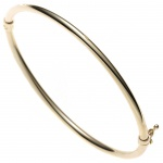 Armreif Armband oval 585 Gold Gelbgold Goldarmreif Steckverschluss