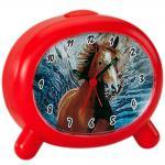Atlanta 1183/1P Wecker Kinderwecker Pferd rot Pferdewecker für Kinder