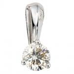 Anhänger 585 Gold Weißgold 1 Diamant Brillant 0, 25ct. Solitär Diamantanhänger