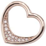 Anhänger Herz 585 Gold Rotgold 15 Diamanten Brillanten 0, 08ct. Herzanhänger