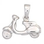 Kinder Anhänger Motorroller 925 Sterling Silber rhodiniert Kinderanhänger