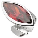 Damen Ring 925 Sterling Silber eismatt SWAROVSKI® ELEMENT rot Silberring