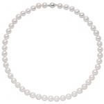 Kette mit Akoya Perlen und 925 Sterling Silber 42 cm Perlenkette