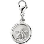 Einhänger Charm Engel Schutzengel 925 Silber matt Anhänger für Bettelarmband