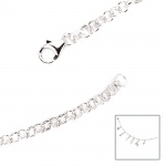 Armband 925 Sterling Silber 19 cm Silberarmband Bettelarmband für Charms