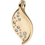 Anhänger 585 Gold Gelbgold 17 Diamanten Brillanten 0, 26ct. Goldanhänger