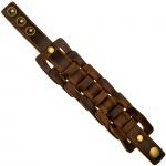 Armband breit Leder braun dunkelbraun 21 cm Lederarmband