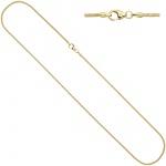 Schlangenkette 333 Gelbgold 1, 6 mm 42 cm Karabiner Gold Kette Goldkette
