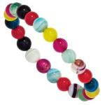 Kinder Armband mit bunten Achaten ca. 14 cm endlos Kinderarmband