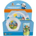 MAINZELMÄNNCHEN Kinder Frühstücks-Set 3-teilig aus Melamin Kindergeschirr