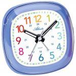 Atlanta 1736/5 Wecker Kinderwecker Quarz blau leise Lernwecker für Kinder
