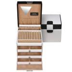 Sacher Schmuckkoffer Schmuckkasten schwarz weiß abschließbar mit Schloss