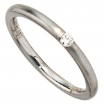 Damen Ring 950 Platin matt 1 Diamant Brillant 0, 06ct. Platinring