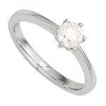 Damen Ring 585 Gold Weißgold 1 Diamant Brillant 0, 25ct. Diamantring Goldring