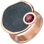 Damen Ring 925 Sterling Silber rotgold vergoldet 1 Rhodolith