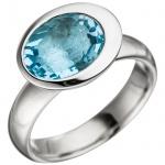 Damen Ring 925 Sterling Silber 1 Blautopas hellblau blau Silberring Topasring