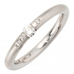 Damen Ring 950 Platin 4 Diamanten Brillanten 0, 20ct. Platinring