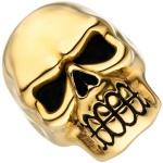Damen Ring Totenkopf Schädel Edelstahl gold farben beschichtet Totenkopfring