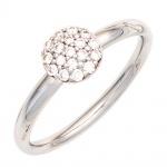 Damen Ring 585 Gold Weißgold 18 Diamanten Brillanten 0, 20ct. Weißgoldring