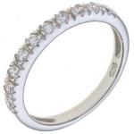 Damen Ring 925 Sterling Silber rhodiniert 10 Zirkonia Silberring