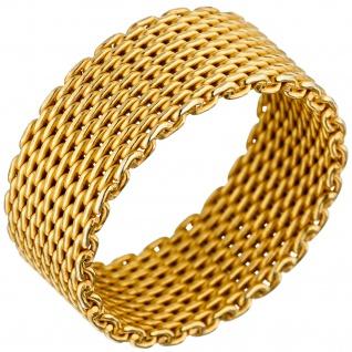Damen Ring Milanaise 925 Sterling Silber gold vergoldet Milanaisering