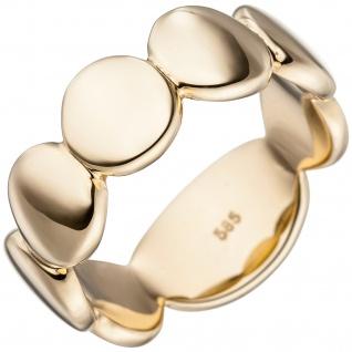 Damen Ring 585 Gold Gelbgold Goldring