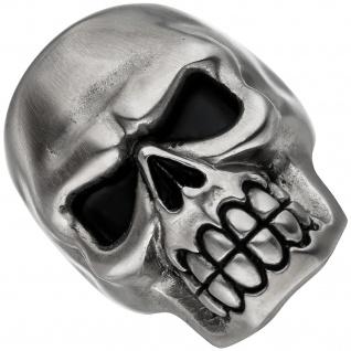 Ring Totenkopf aus Edelstahl matt Schädel Skull Totenkopfring