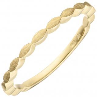 Damen Ring zart 585 Gold Gelbgold matt Goldring