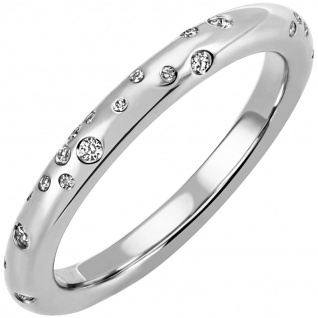 Damen Ring 585 Gold Weißgold 34 Diamanten Brillanten 0, 21ct. Diamantring