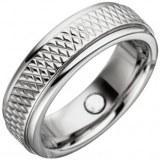 Partner Ring mit Magnet / Magnetring aus Edelstahl