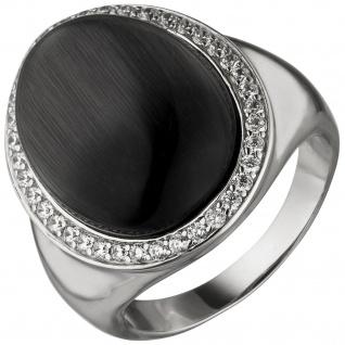 Damen Ring 925 Sterling Silber 1 Monstein-Imitation 38 Zirkonia Silberring